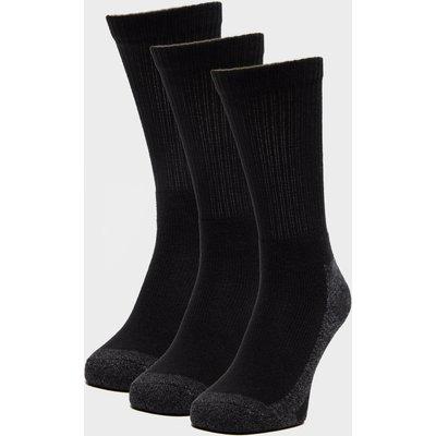 Peter Storm 3 Pack Work Socks, Black