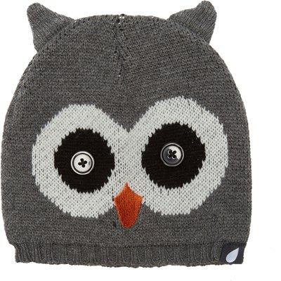 Peter Storm Girl's Owl Beanie - Grey, Grey