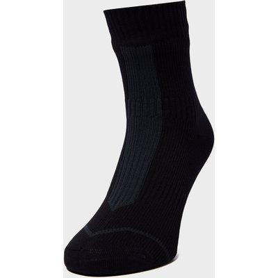 Sealskinz Thin Ankle Hydrostop Waterproof Socks - Black/Grey, Black/Grey