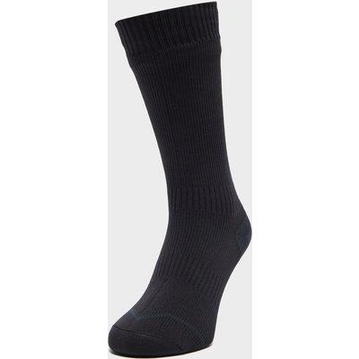 Sealskinz Hydrostop Thin Mid Length Waterproof Socks - Black, Black