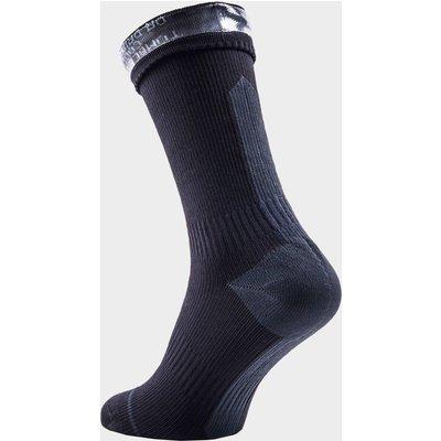 Sealskinz Hydrostop Mid Length Waterproof Socks, Black