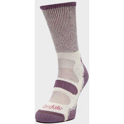 BRIDGEDALE Women's Hike Lightweight Cotton Cool Comfort Boot, PLUM