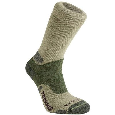 BRIDGEDALE Men's Trekker Endurance Socks- Large, GREE