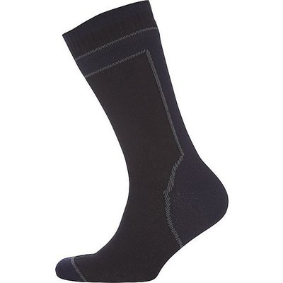 SEALSKINZ Mid Weight Mid Length Socks with Hydrostop, BLACK