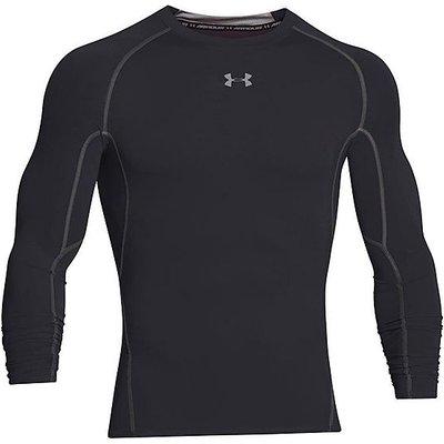 Under Armour Men's UA HeatGear Armour Long Sleeve Compression, BLACK