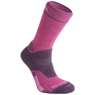 BRIDGEDALE WoolFusion Trekker Women's Socks, BERRY
