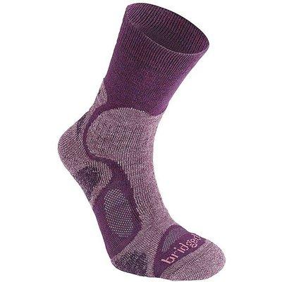 BRIDGEDALE CoolFusion TrailBlaze Women's Walking Socks, PLUM