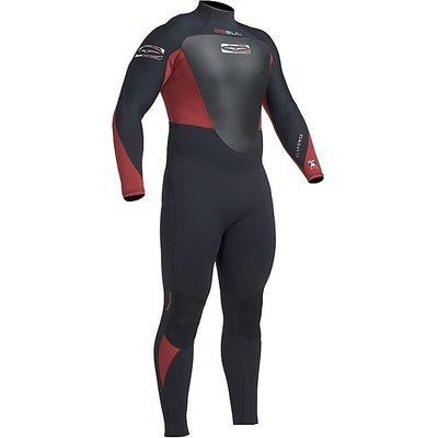 GUL Response Men's Wetsuit 5-3mm, BLACK-CARDINAL