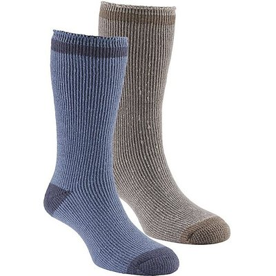 GO OUTDOORS Men's Heat Trap Socks (2 pair pack), NAVY-TAUPE