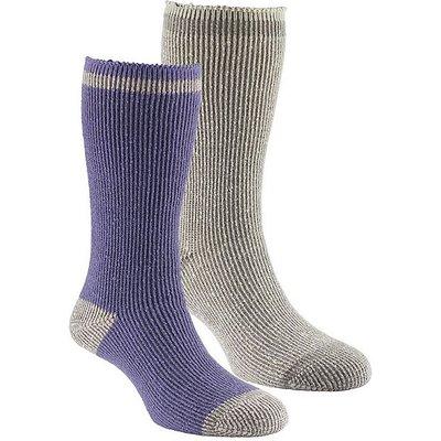 GO OUTDOORS Women's Heat Trap Socks (2 pair pack), OAT-LAVENDAR