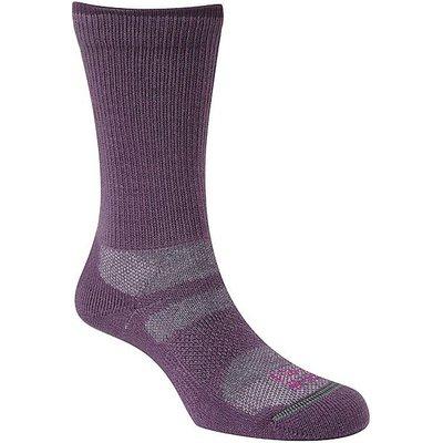 NORTH RIDGE Women's 4 Season Merino Wool Walking Socks, PLUM