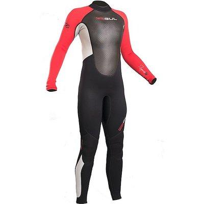 GUL Junior Boy's Response 3-2mm Flatlock Steamer Wetsuit, BLACK-RED