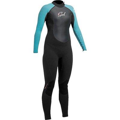 GUL Junior Girl's Response 3-2mm Flatlock Steamer Wetsuit, BLACK-TURQ