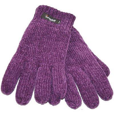 FORDVILLE LTD Women's Chenille Thinsulate Gloves, PURPLE