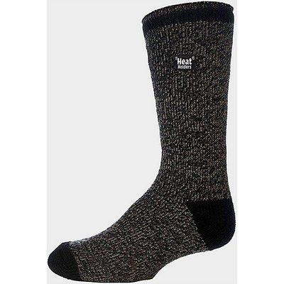 HEAT HOLDERS Men's Twist Socks, BLACK