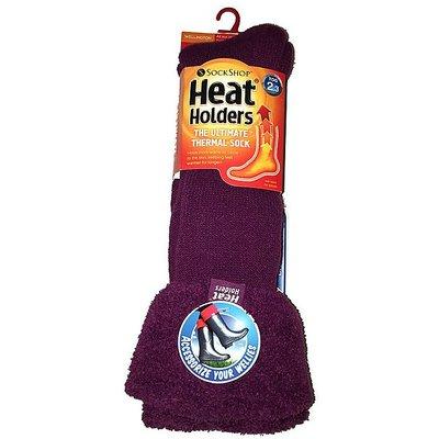 HEAT HOLDERS Ladies' Wellington Boot Socks, DEEP FUCHSIA
