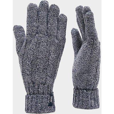 HEAT HOLDERS Ladies' Thermal Gloves, NAVY TWIST
