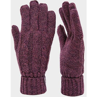 HEAT HOLDERS Ladies' Chunky Rib Hat, PURPLE
