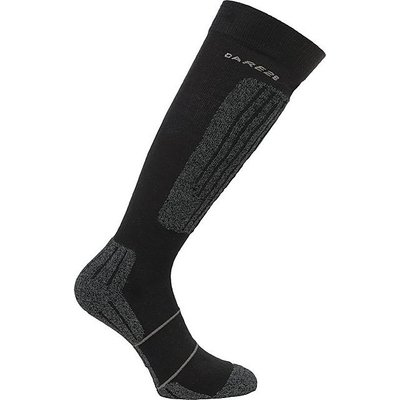DARE 2B Men's Contoured II Ski Socks, BLACK