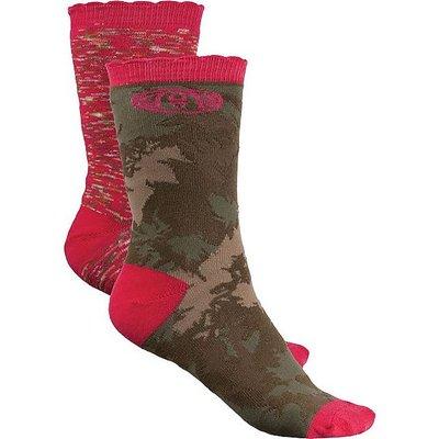 ANIMAL Olive Olivia Women's Socks (2 Pair Pack), FOREST GREEN