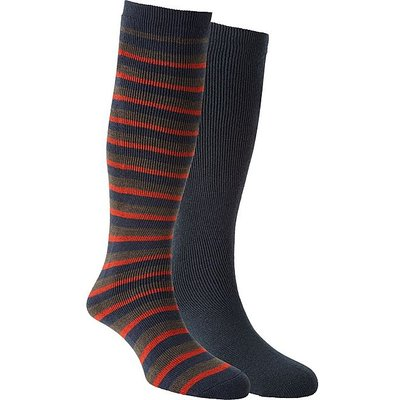 THE EDGE Men's Parallel Thermal Socks, BLACK IRIS