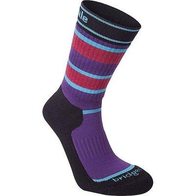 BRIDGEDALE Striped Hiker Women's Socks, PURPLE