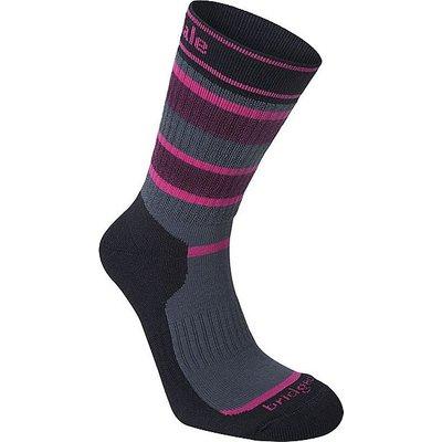 BRIDGEDALE Striped Hiker Women's Socks, PINK