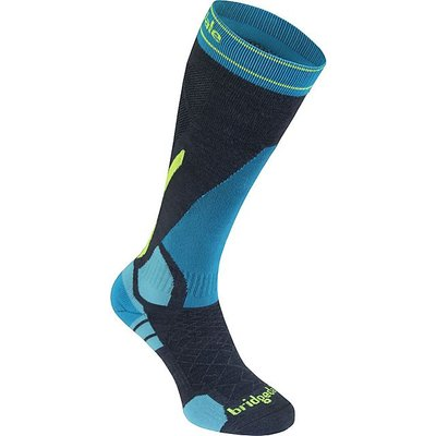BRIDGEDALE Men's Vertige Light Sock, CHARCOAL-YELLOW