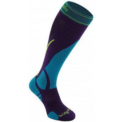 BRIDGEDALE Women's Vertige Light Sock, BLACK-BLUE