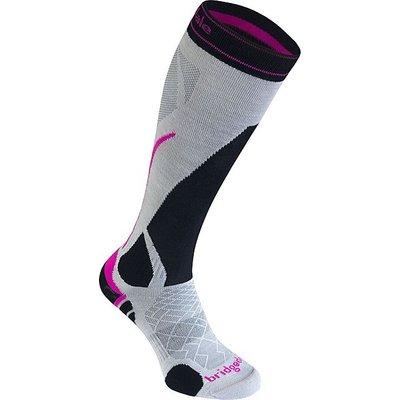 BRIDGEDALE Women's Vertige Light Sock, SILVER-BLACK