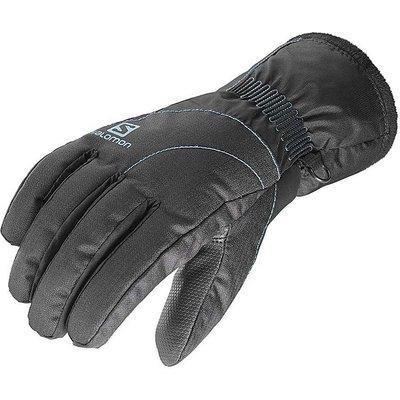 Salomon Women's Force Dry Gloves, BLACK-BLUE