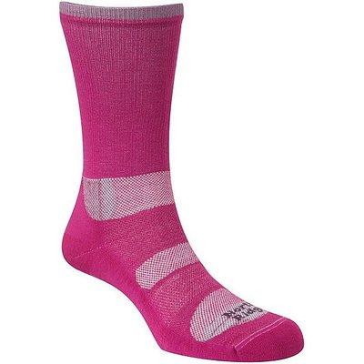 NORTH RIDGE Women's 2 Season Walking Socks, BERRY