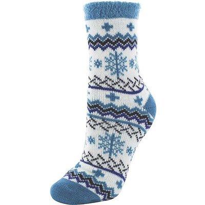 YAKTRAX Cabin Socks, BLUE-NAVY