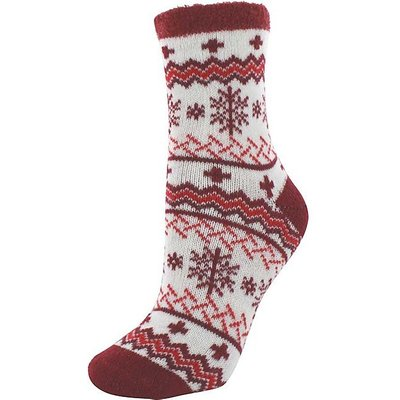 YAKTRAX Cabin Socks, FLOCON ROUGE