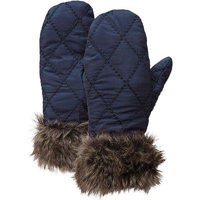 HI-GEAR Women's Fur Trim Insulated Mitts, BLACK IRIS