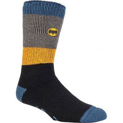 HEAT HOLDERS Men's Superhero Slipper Socks, BLACK