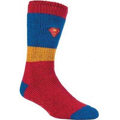HEAT HOLDERS Men's Superhero Slipper Socks, RED