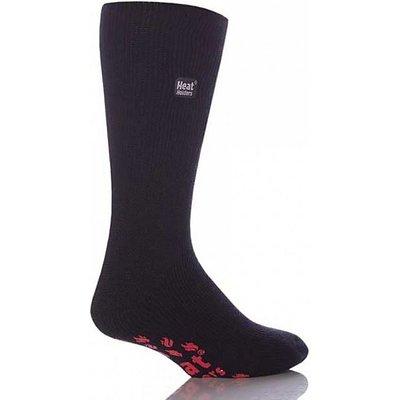 HEAT HOLDERS Men's Star Wars Storm Trooper Slipper Socks, BLACK-RED