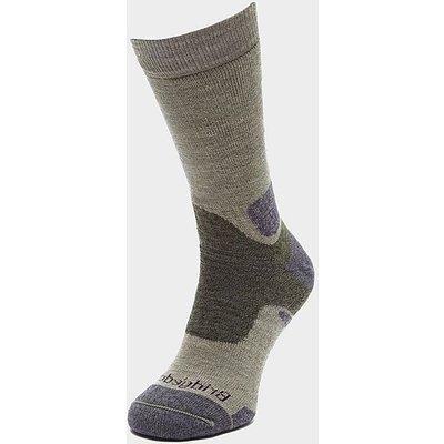 BRIDGEDALE Men's Hike Midweight Merino Endurance Boot Sock, GREEN