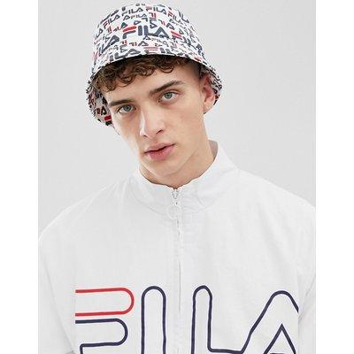 FILA Fila - Taylor - Weißer Fischerhut mit durchgehendem Logodruck - Weiß