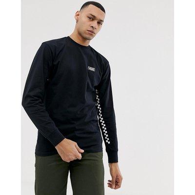VANS Vans - Langärmliges Shirt mit Kontrastband mit Schachbrettmuster in Schwarz - Schwarz
