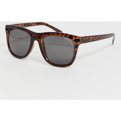 CHEAP MONDAY Cheap Monday - Timeless - Eckige Sonnenbrille in Braun-Schildplatt - Braun