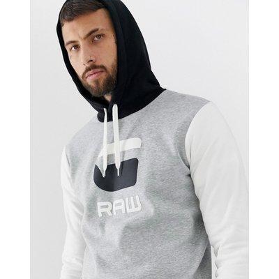 G-STAR G-Star - Kapuzen-Sweatshirt in Grau mit Logo - Grau