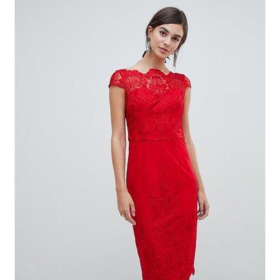 Chi Chi London Tall lace midi pencil dress