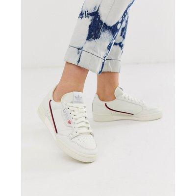 ADIDAS adidas Originals - Continental - Sneaker im Stil der 80er-Jahre in Weiß und Rot - Weiß
