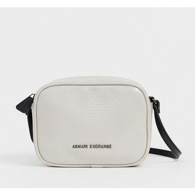 ARMANI EXCHANGE Armani Exchange - Umhängetasche in Lackoptik - Weiß
