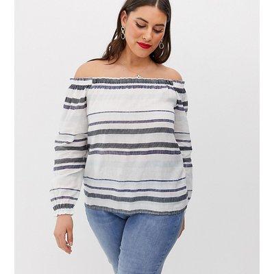 VERO MODA Vero Moda Curve - Schulterfreie Bluse mit Streifen - Mehrfarbig