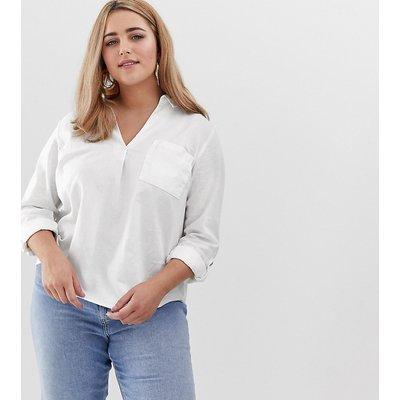 NEW LOOK New Look Curve - Weißes Leinenhemd - Weiß