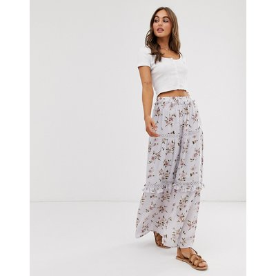 ASOS DESIGN prairie tiered maxi skirt in floral print