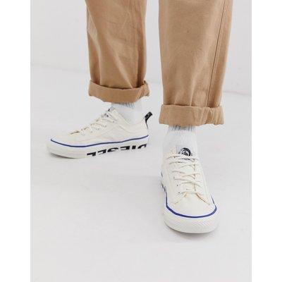 DIESEL Diesel - Weiße Sneaker aus Stoff mit Logo - Weiß